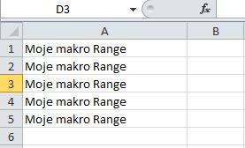 makro wstawianie danych range zakres