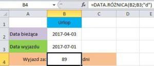 funkcja data.różnica w działaniu